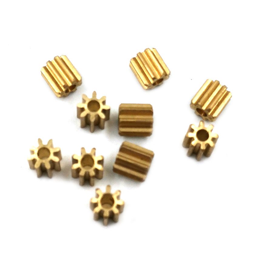 82A 0.6M Copper Gear Diameter 6mm 0.6 Module 8 Tooth Hole 1.98 Mm Brass Pinion Small Toy Motor Gears