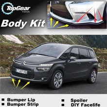 Bumper Lip Deflector Lips For Citroen C4 Picasso Front Spoiler Skirt For Top Gear Friends Car Tuning View / Body Kit / Strip