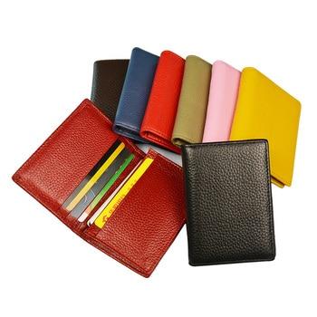 100% Genuine Leather Business Name Card Case Large Capacity Cross Crocodile Saffiano Bank Card ID Holder Custom name logo 1