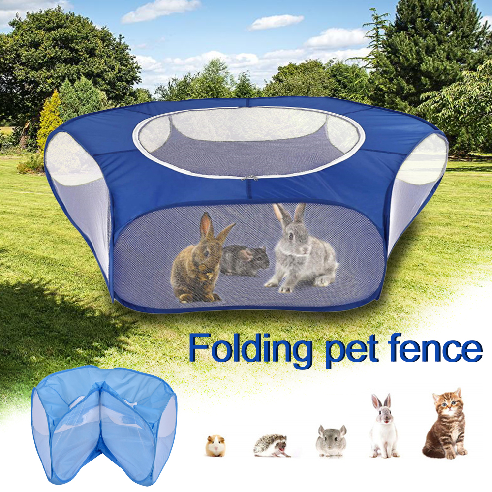 Pet Playpen Open Indoor Outdoor Small Animal Cage Game Playground Fence for Hamster Chinchillas Guinea Pigs Supplies
