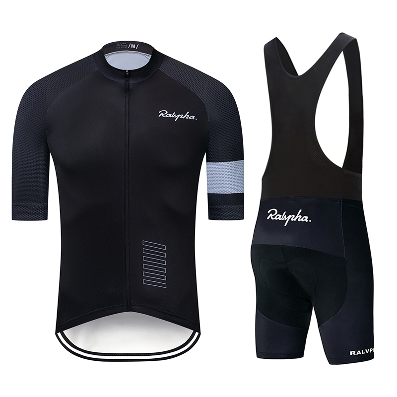 Raphaing Men Summer Bike Clothing Breathable Anti-UV Bicycle Wear Short Sleeve Cycling Jersey Sets Ropa Ciclismo Maillot Gobike