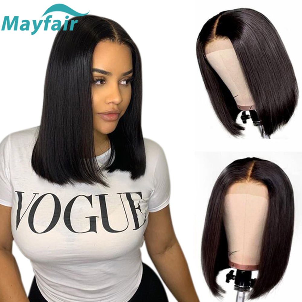 Lace Front Human Hair Wigs Short Bob Lace Front Wigs For Black Women Summer Lace Closure Wigs Brazilian Straight Human Hair Wigs