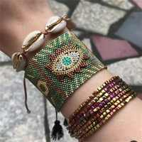 ZHONGVI MIYUKI Bracelet Women Evil Eye Pulseras Mujer Moda 2020 Bohemia Jewelry Turkish Evil Eye Bracelets Handmade Armband Gift