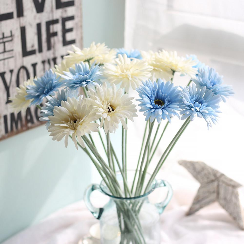 22 Inches 9 Colors Artificial <font><b>Daisy</b></font> <font><b>Gerbera</b></font> Rare <font><b>Daisy</b></font> <font><b>Plants</b></font> Bloom Chrysanthemum Flower for Home Wedding Decoration Indoor image
