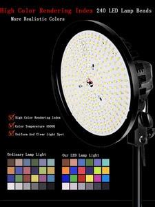 Image 3 - Kits de iluminación de fotografía continuo 220V 100W LED lámpara de relleno con iluminación Softbox trípode con soporte para Luz Accesorios de estudio fotográfico