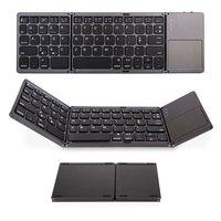 Mini teclado dobrável sem fio bluetooth teclado dobrável com touchpad para laptops tablet pc telefones celulares