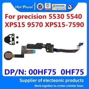 Модуль считывания отпечатков пальцев печатная плата с кабелем с кнопкой кабеля для Dell precision 5530 5540 XPS15 9570 7590 00HF75 0HF75