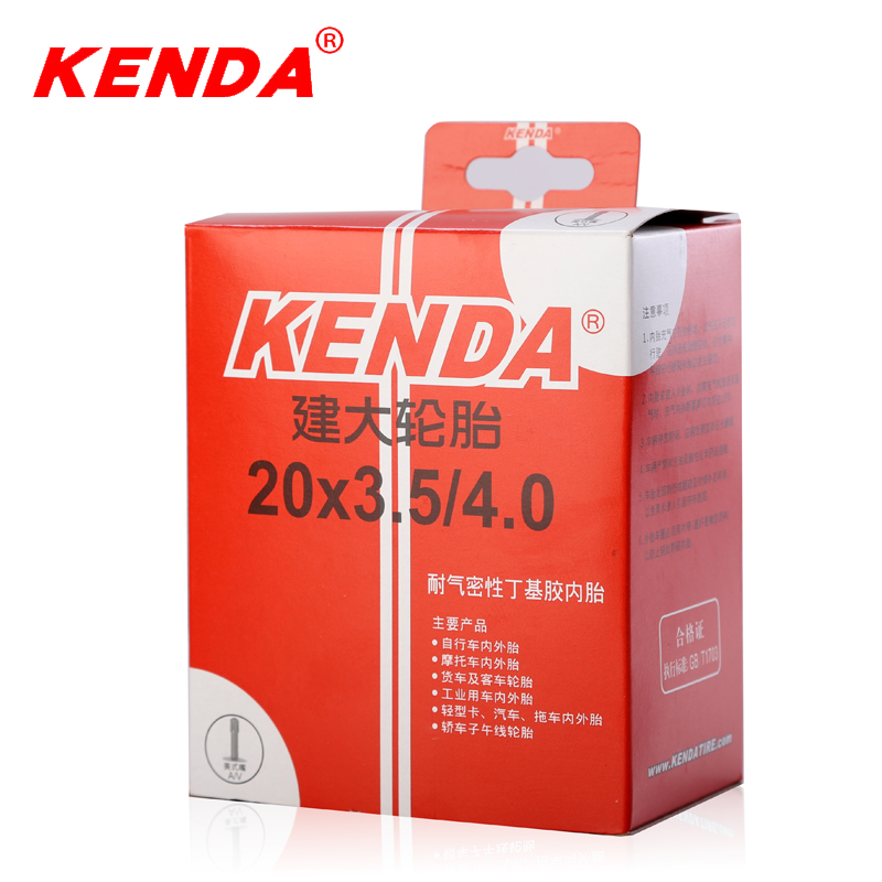 KENDA bicycle inner tube 20*3.5-4.0 ATV tyre beach bike tire tube city fat tyres snow bike tires Schrader A/V inner tubes 375g