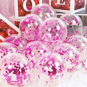 Image 4 - 10 adet 12 inç lateks Confetti balon ilk mutlu doğum günü partisi dekorasyon 1st bir yıl bebek çocuk yetişkin erkek kız düğün malzemeleri
