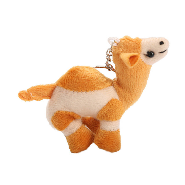 Cute Soft Camels Pendant Llama Key Chain Funny Stuffed Plush Doll Kids Toy Gift Kids Toys For Children ??????? ???????