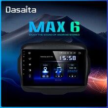 """داسايتا 9 """"أندرويد 9.0 راديو سيارة بشاشة لمس متعددة لسيارة جيب رينيجيد جي بي إس 2016 2017 HDMI 2.5D IPS شاشة لمس TDA7850 بلوتوث"""