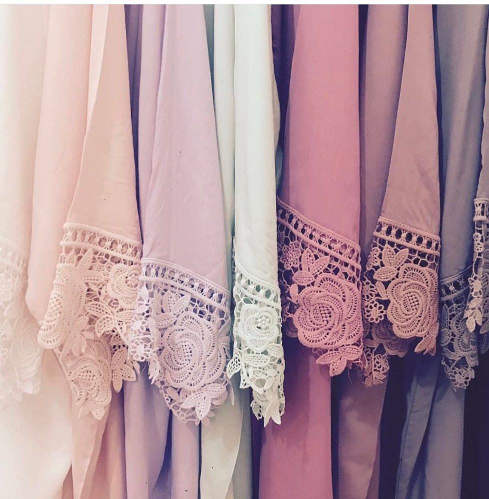 Owiter 2019 Women Rayon Cotton Lace Robe Bride Bridesmaid Robes Bridal Wedding Robe Sleepwear Bathrobe Dressing Gown White Robes