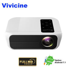 Vivicine Nieuwste T8 Full HD Projector, optioneel Android 9.0 HDMI USB PC 1080p LED Home Theater Projector Projector Beamer(China)
