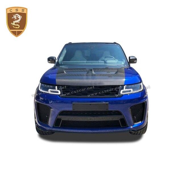Чехол для переднего двигателя из настоящего углеродного волокна подходит для Land Rover Range Rover Sport SVR Style 2014 2015 2016 2017 2018 2019