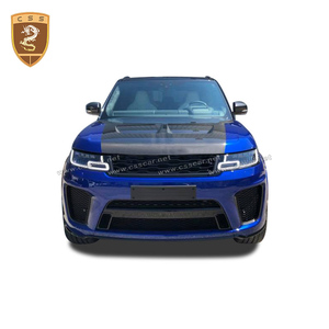 Image 1 - Real Carbon Fiber Front Engine Hood Cover Fits For Land Rover Range Rover Sport SVR Style 2014 2015 2016 2017 2018 2019