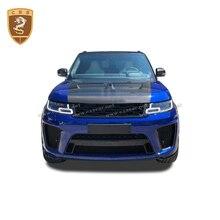 Real Carbon Fiber Front Motorkap Cover Past Voor Land Rover Range Rover Sport Svr Stijl 2014 2015 2016 2017 2018 2019