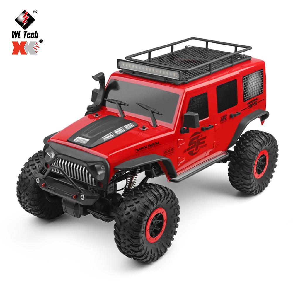 Wltoys 104311 1/10 2.4G 4WD Rc Car Rock Crawler Climbing Vehicle W/LED Light RTR Model High Speed Trucks Off-Road Trucks Toys