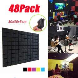 24Pack-Mushroom espuma acústica recreación estudio tratamiento de sonido KTV Panel insonorizado aislamiento de sonido azulejos Live accesorios 2 in