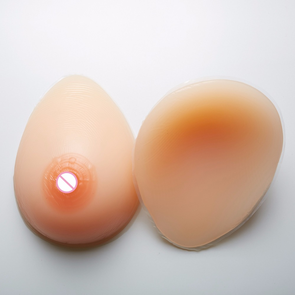 silicone fake Breast Froms Artifcial boobs 600g/pair B Cup Products Pad teardrop shape for shemale crossdresser transgender