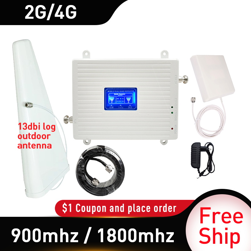 13dbi Log Outdoor Antenna GSM 900mhz UMTS 1800 Mhz Dual Band Repeater 2G 3G 4G LTE Phone Amplifier Cellular Mobile Booster