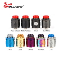 New Hellvape Passage RDA Tank 24mm RDA Atomizer Dual Coil Building with Separation Block For Squonkor Box Mod vs Drop Dead RDA