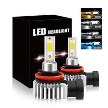 2Pcs H7 LED H4 전구 자동차 헤드 라이트 H11 H1 H8 H3 H9 9005 9006/HB4 안녕 Lo 빔 60W 12000LM 자동 전조 등 LED 안개 빛
