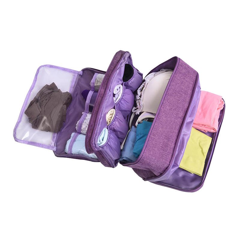 Women Underwear Packing Cube Travel Compartment Bra Storage Bag Organizer Women's Luggage Organizer Pouch Travel Suitcase Cube