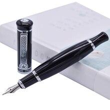 דוכס 558 עט נובע Vivid שחור גדול ייחודי סגנון, אירידיום בינוני ציפורן 0.7mm עט כתיבה עסקים, משרד, בית וגינה
