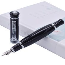 Перьевая ручка Duke 558, яркий черный большой уникальный стиль, Иридиевый Средний наконечник 0,7 мм, ручка для письма, для бизнеса, офиса, для дома