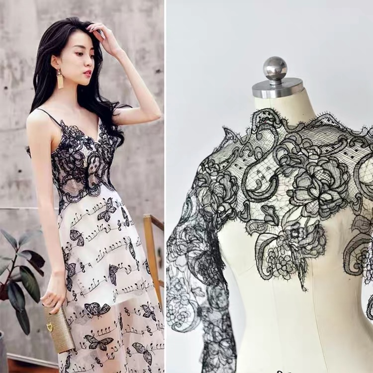 Color 3D Three-dimensional Lace Beaded Applique Patch Dress Wedding Dress Patch Costume Sweater Down Jacket Decoration Wedding