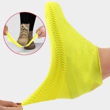 1 para wielokrotnego użytku lateksowe kalosze wodoodporne pokrowce na Slip-on odporna guma kalosze ochraniacze na buty M L akcesoria do butów tanie tanio CN (pochodzenie) MIESZANY 1 Pair rain shoes cover S9H1004032