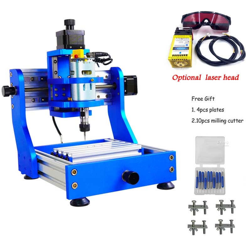 1310 PRO CNC Desktop Engraving PCB Milling Machine Wood Carving Laser Function With Square Rail Optional 500MW 2500MW 5500MW