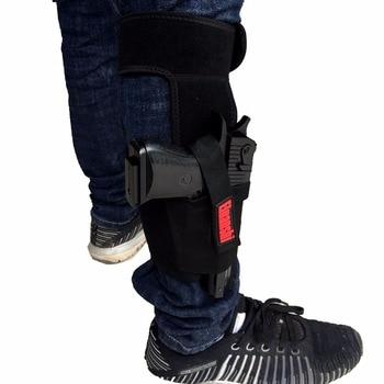 Concealed Carry Ankle Leg Holster For Glock 17 19 22 23 Ruger Lcp Sig 9mm Gun Pistol Tactical Pouch Black Color ELUANSHI 6
