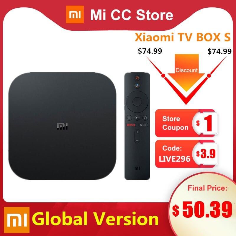 Global Version Xiaomi Mi TV Box S 4K Ultra HD Android TV 9.0 HDR 2GB 8GB WiFi Google Cast Netflix Smart TV Mi Box 4 Media Player|Set-top Boxes|   - AliExpress