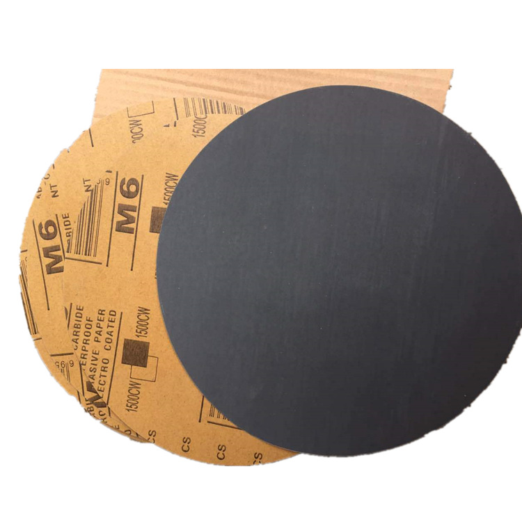 M6 Brand 9-Inch Circle Sandpaper 230 Size Metallographic Sandpaper Round Plates Fine Grind  Polishing Sandpaper Wafer