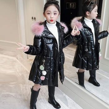 pearlite layer Jackets 2020 new Children Winter baby girl Clothes Warm Hooded clothing long down Coat For Kids Outerwear parka boys down jackets 2018 new winter children duck down parka coats boy hooded clothes kids fur collar thick warm long outerwear