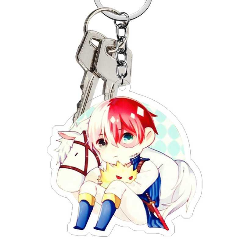 Новый Модный милый мультфильм Аниме Новый Academy Hero Academi брелок акриловое кольцо для ключей амулеты подарок