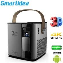 Smartldea P12 4K 3D mini projektor android 9.0 inteligentny proyector wbudowany akumulator 5G wifi BT4.1 full hd 1080p gra wideo Beamer
