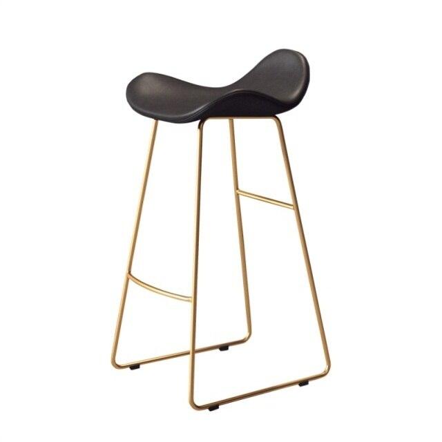 Nordic Bar Chair Household Modern Simple Bar Chair Front Desk Chair Leisure Milk Tea Shop Coffee Shop High Stool