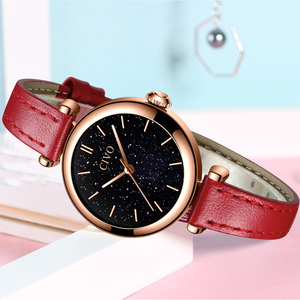 Image 3 - CIVO นาฬิกาผู้หญิง Montre Femme 2019 แบรนด์นาฬิกาข้อมือควอตซ์นาฬิกาสุภาพสตรีนาฬิกาสุดหรูสายหนังสีแดงนาฬิกากันน้ำ 8104
