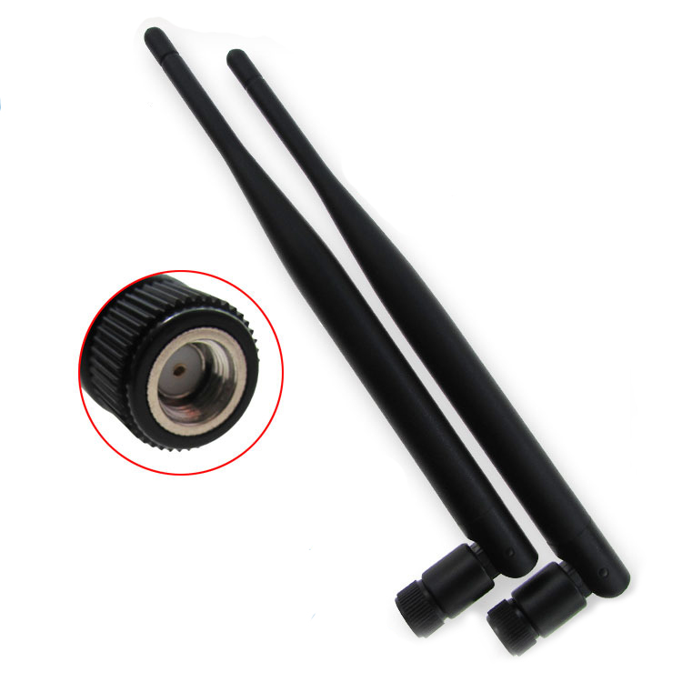 Bakeey 2PCS New Metal WiFi Antenna Of RP-SMA Interface With 5dBi 2.4G/5G Dual-Band Wireless Wifi Antenna For ASUS RT-AC68u