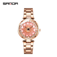 Sanda women's quartz watch creative dial multicolor fashion watch ladies watch Valentine's Day gift girl relogio feminino watch