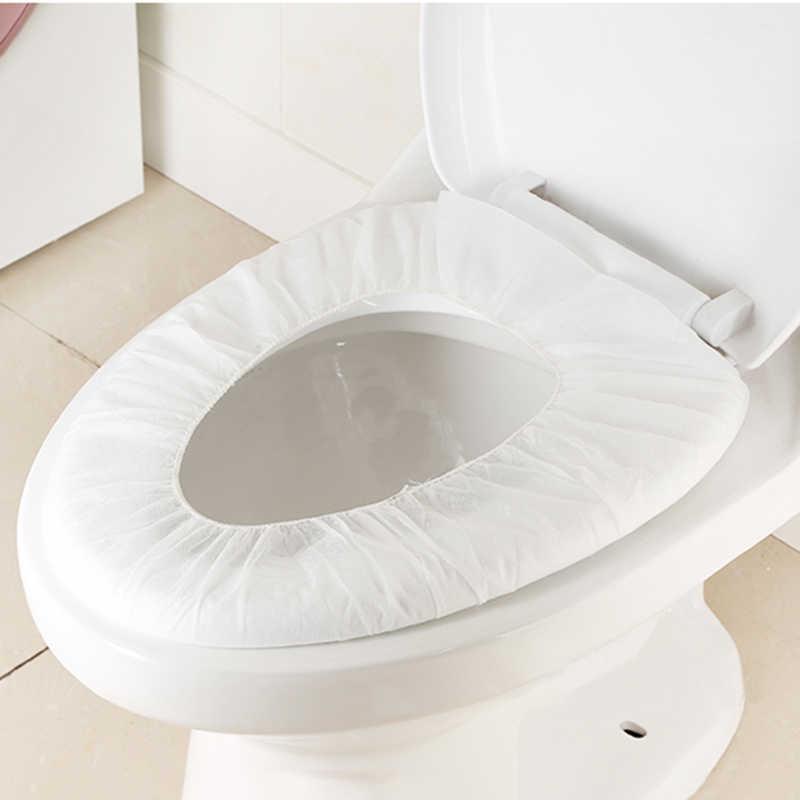 1pc ekologiczne podróży Hotel centrum jednorazowa nakładka na toaletę mata papier toaletowy Pad, która pozwala na stosowanie go w strefach aseptycznych, akcesoria łazienkowe