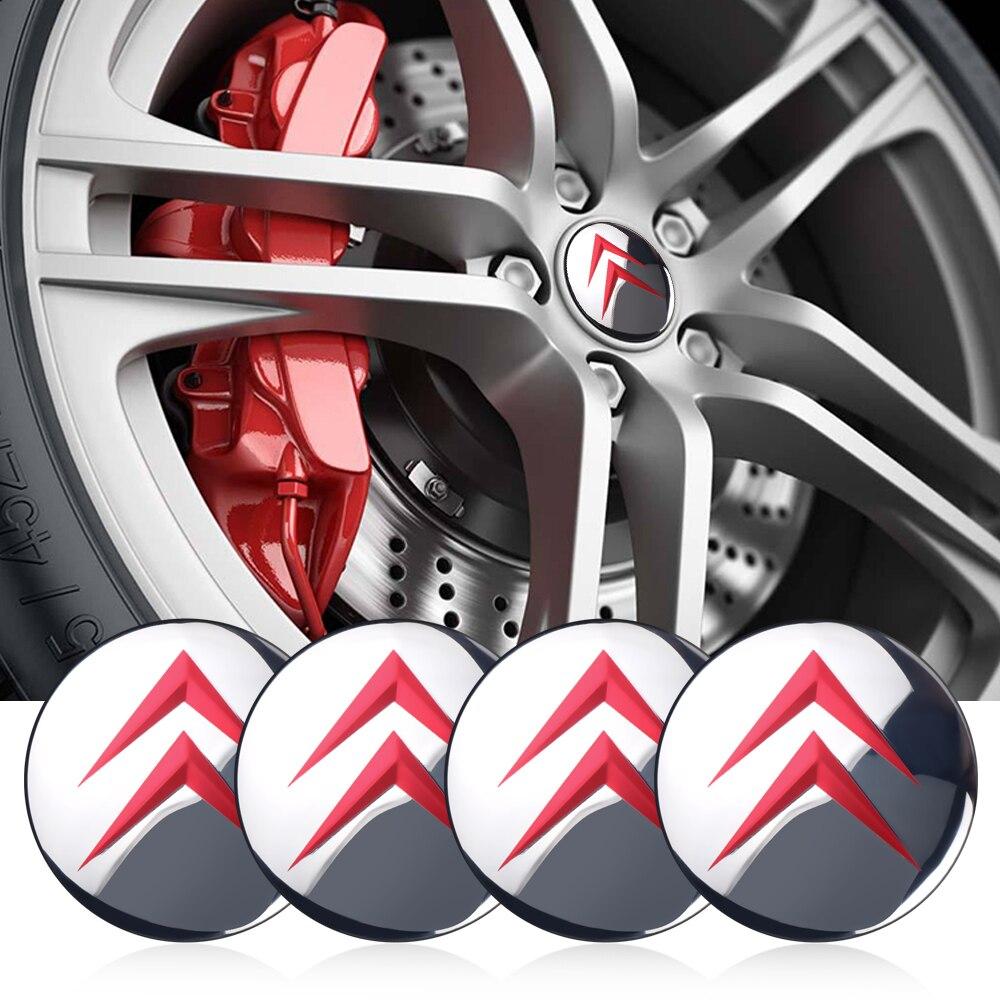 56mm France Flag Wheel Center Hub Cap Emblem Sticker For Renault Citroën Peugeot