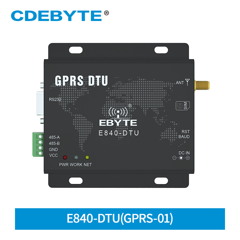 E840-DTU(GPRS-01) GPRS Wireless Transceiver 5 Channel Socket TCP UDP AT Command GSM RS485 RS232 Interface