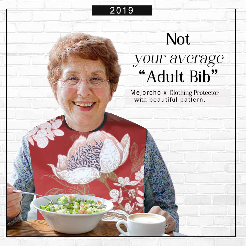 Dining Scarf Lady Bibs Dignity Bibs Adult Bibs Elderly Bibs Clothes Protector  Shirt Protector Dining Wear Alzheimers Bibs for Women