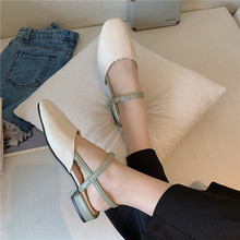 Liren 2019 Summer Fashion Casual Women Buckle Sandals Round Wrapped Toe Med High Square Heels Comfortable