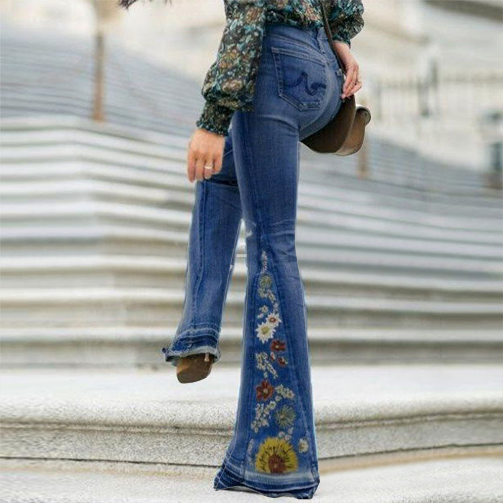 Puimentiua Fall High Waist Flare Jeans Woman New Brand Bell Bottom Denim Pants Femme Skinny Wide Leg Jeans Mujer Denim Pants