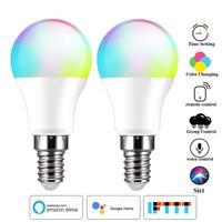 1/2/3/4pcs WiFi lampadina intelligente E14 LED RGB lampada LED lampadina intelligente lampada al Neon che cambia il controllo vocale Siri Alexa Google Home