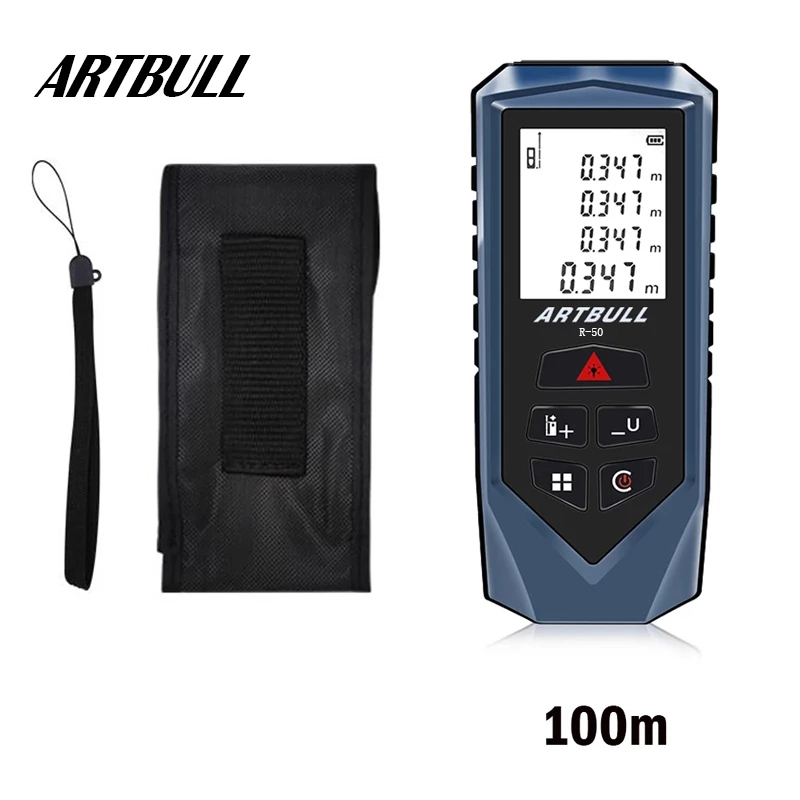 Artbull laser rangefinder 100m 70m 50m laser medidor de distância fita infravermelho rangefinder ferramenta medição